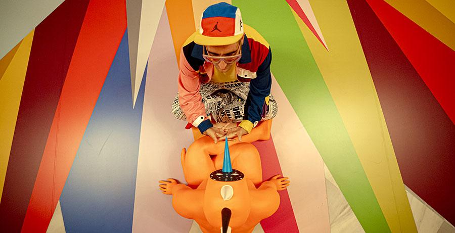 Meditations, instalación en el Teatre Liceu de Barcelona del artista Okuda San Miguel, imagen 5