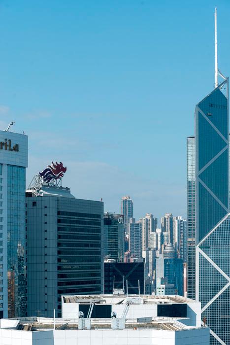 Instalación de Antony Gormley Event Horizon en Hong Kong, vista 11