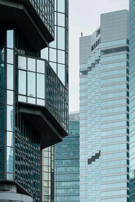 Instalación de Antony Gormley Event Horizon en Hong Kong, vista 14