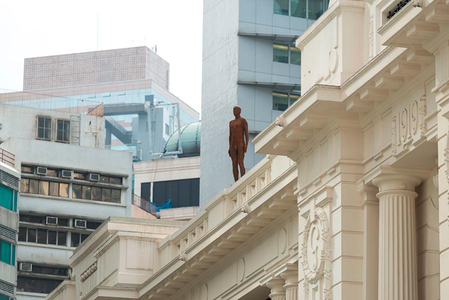 Instalación de Antony Gormley Event Horizon en Hong Kong, vista 7