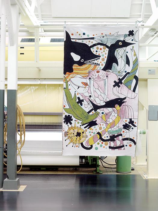 tapiz 2 colección Fauna del disenador Jaime Hayon
