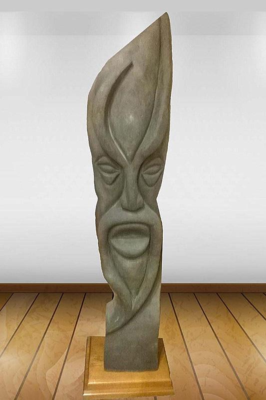 Escultura de Patxi Xabier Lezama Deabru