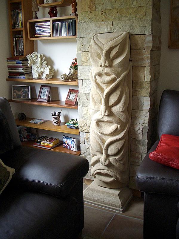 Escultura de Patxi Xabier Lezama Totem