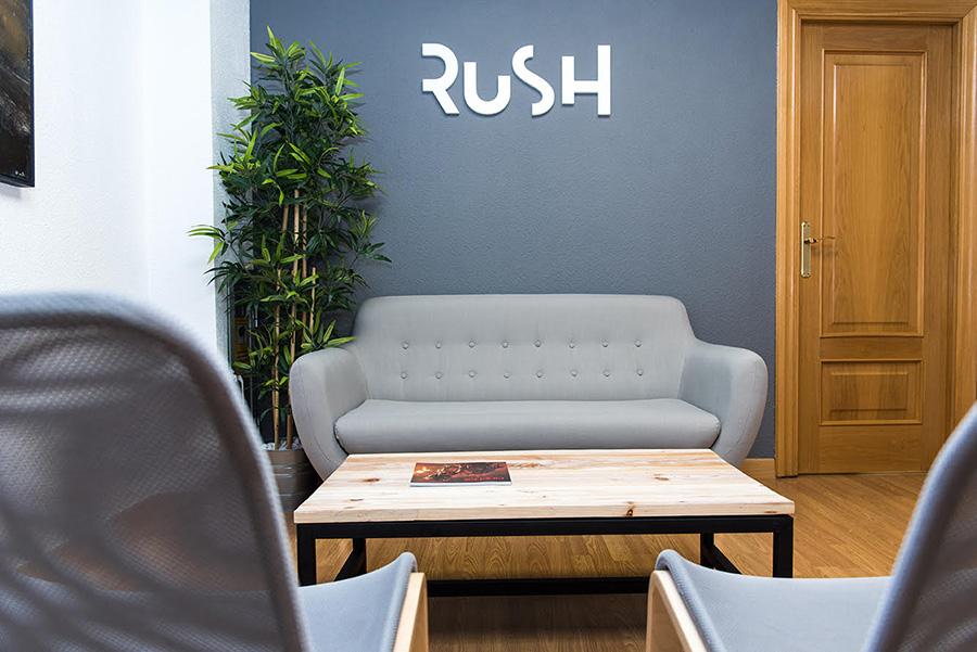 La oficina de la agencia creativa aragonesa Rush