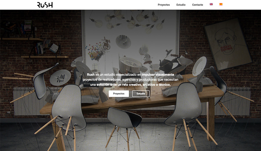 La portada de la nueva página web de Rush