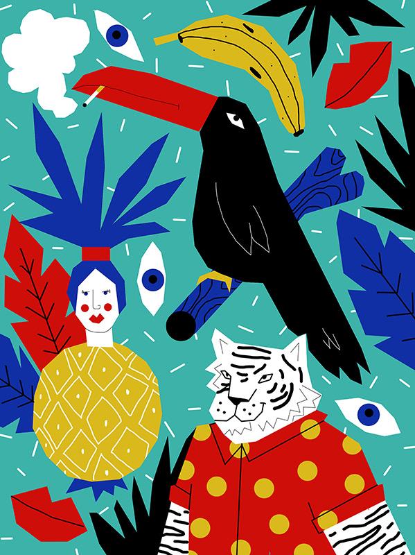 Perrine Honoré, ilustración JUNGLECAM-2