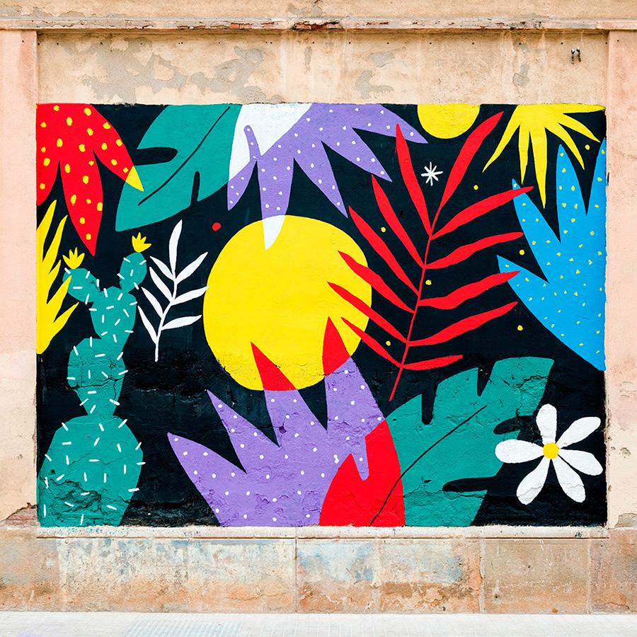 Perrine Honoré, ilustración mural