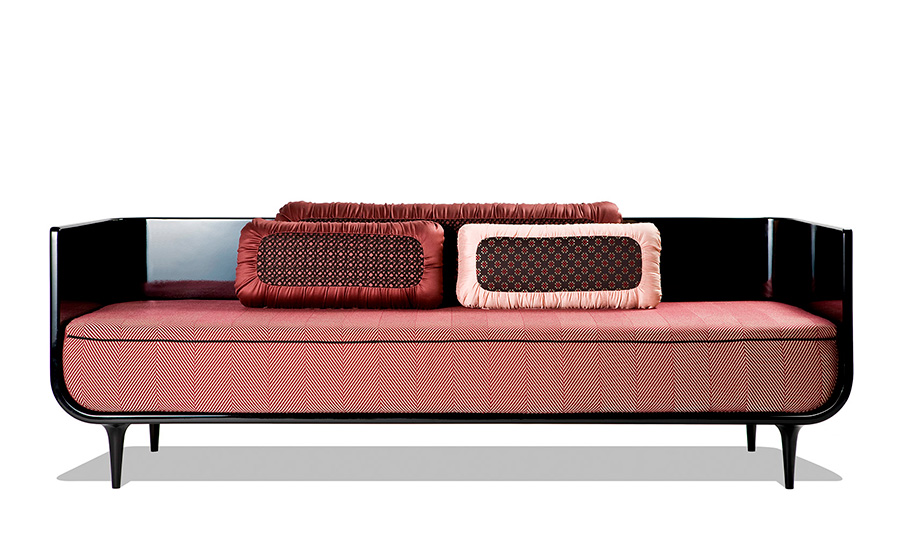 Sofá Phonique, diseño de Nika Zupanc, vista frontal