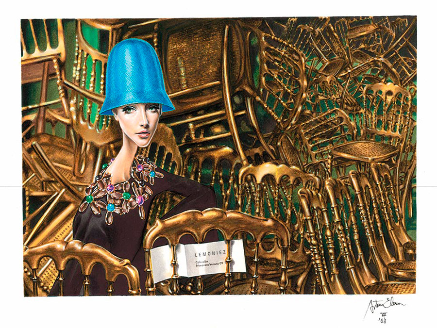 Ilustración del ilustrador Arturo Elena 2008 LEMONIEZ Cibeles 2009