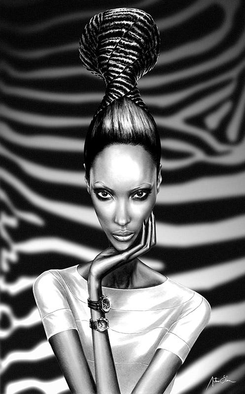 Ilustración del ilustrador Arturo Elena para Audemars Piguet África