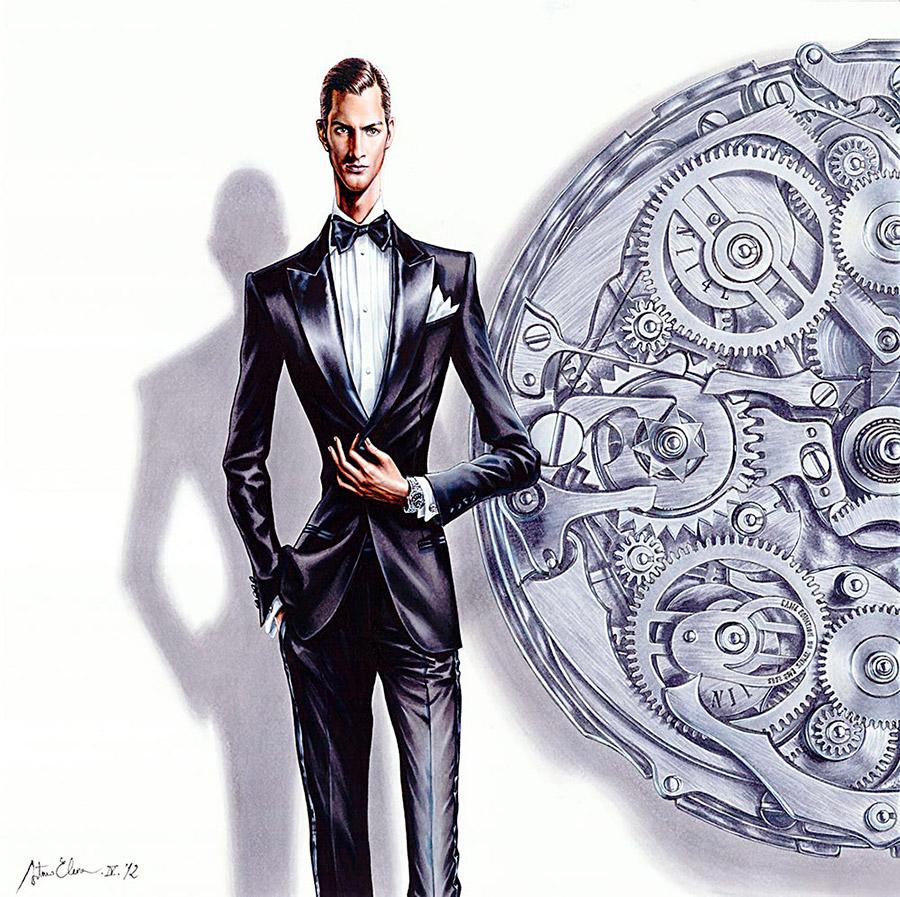 Ilustración del ilustrador Arturo Elena