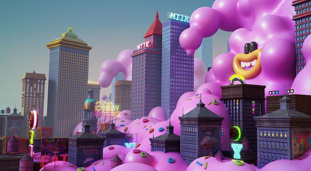 ilustrador jonathan ball ilustraciones 3D sugar city