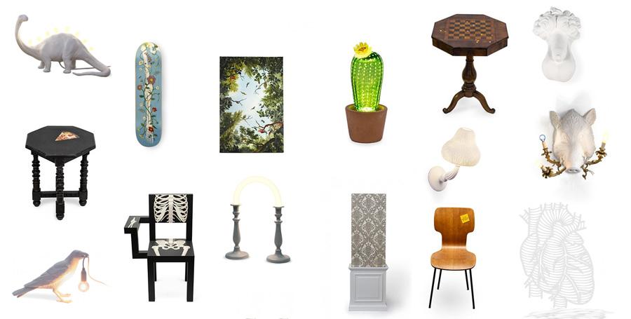 Marcantonio art & design, grupo 2 de objetos de diseño diseñados por el diseñador italiano Marcantonio Raimondi Malerba