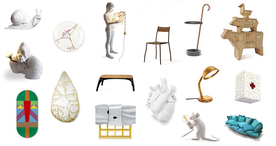 Marcantonio art & design, grupo 3 de objetos de diseño diseñados por el diseñador italiano Marcantonio Raimondi Malerba
