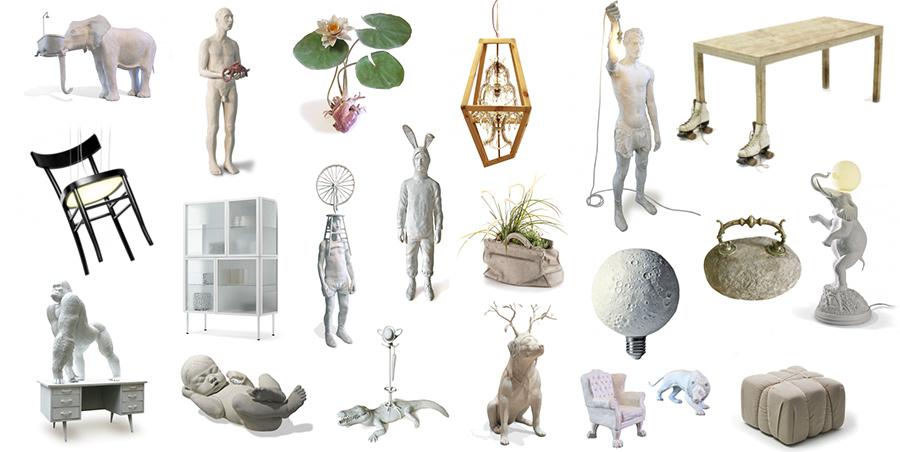 Marcantonio art & design, grupo 5 de objetos de diseño diseñados por el diseñador italiano Marcantonio Raimondi Malerba